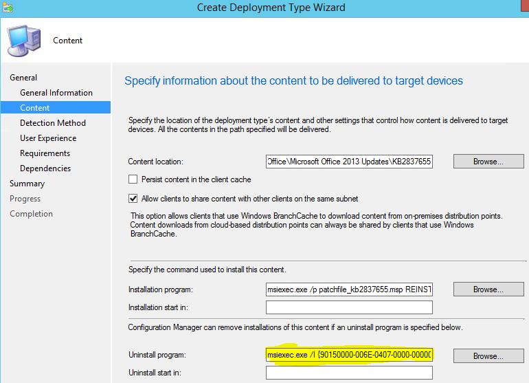 Windows Installer Patch (MSP) automatisiert (silent / quiet